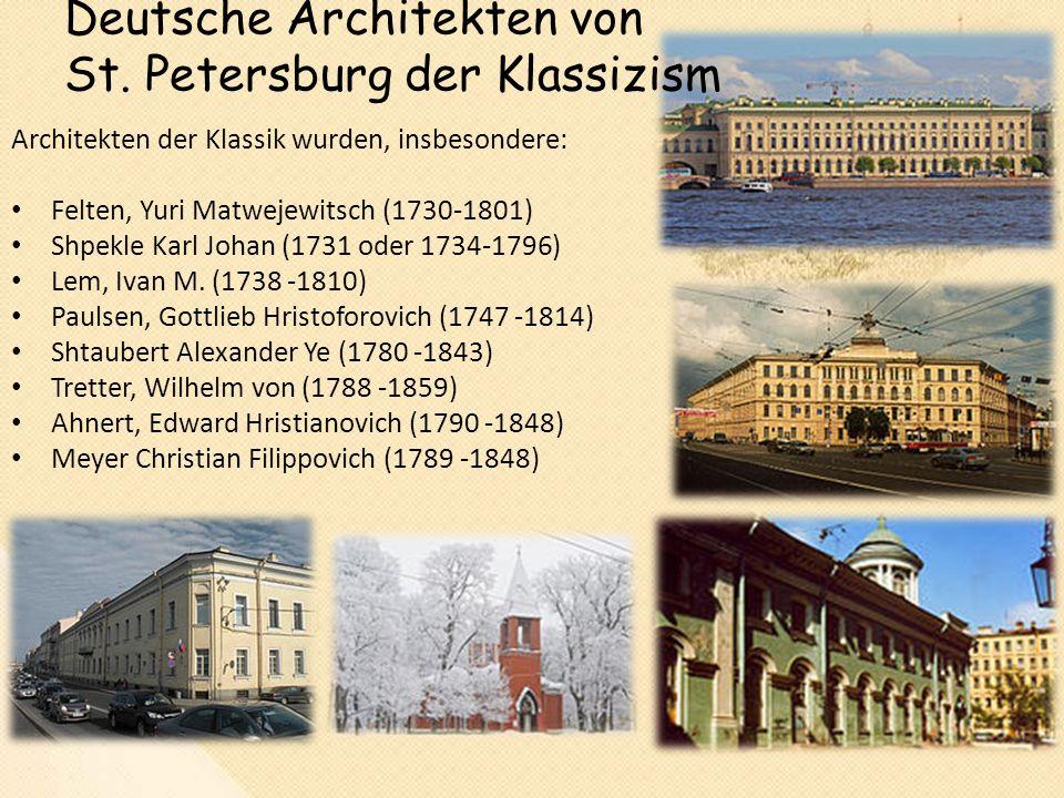 Deutsche Architekten von St.