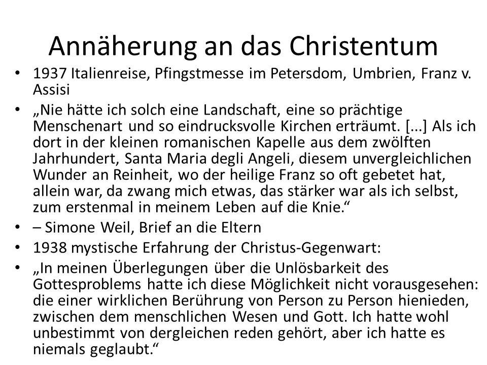 Annäherung an das Christentum 1937 Italienreise, Pfingstmesse im Petersdom, Umbrien, Franz v.