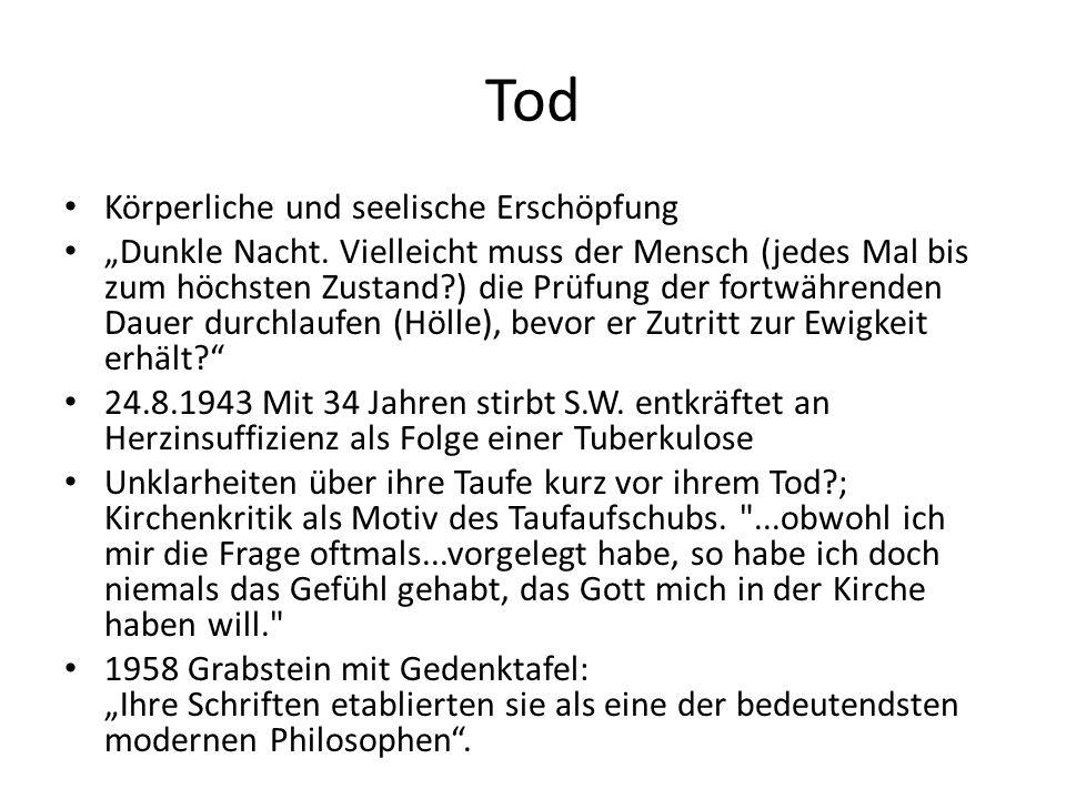 """Tod Körperliche und seelische Erschöpfung """"Dunkle Nacht."""