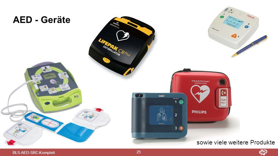 BLS-AED-SRC-Komplett 25 AED - Geräte sowie viele weitere Produkte