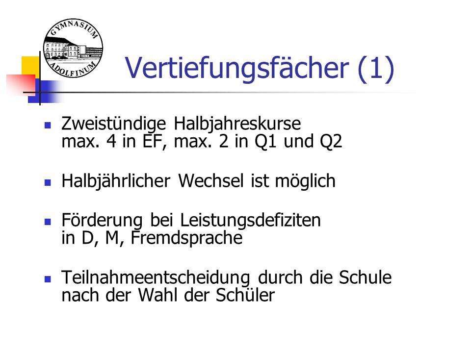 2 aus 3  … Ausgeschlossene Abiturfachkombinationen:  zwei Naturwissenschaften (bzw.