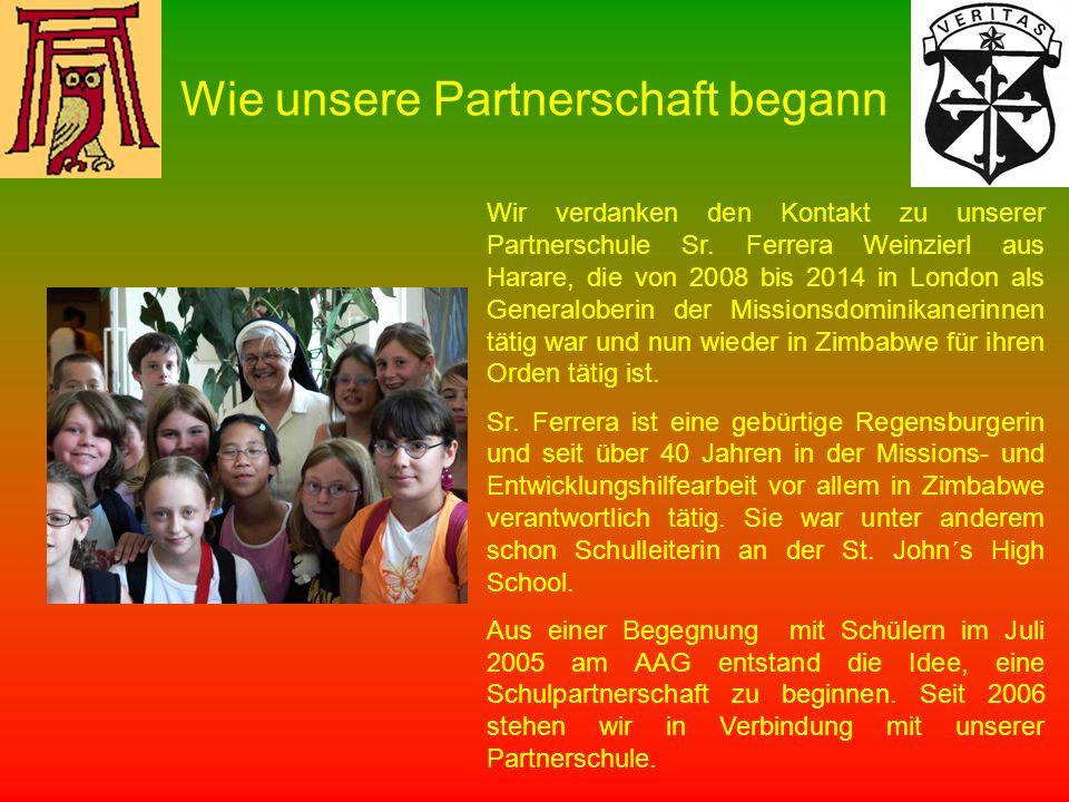 Wir verdanken den Kontakt zu unserer Partnerschule Sr.