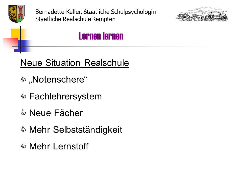 Arbeit mit dem Karteikartensystem 12345 Lernen lernen Bernadette Keller, Staatliche Schulpsychologin Staatliche Realschule Kempten