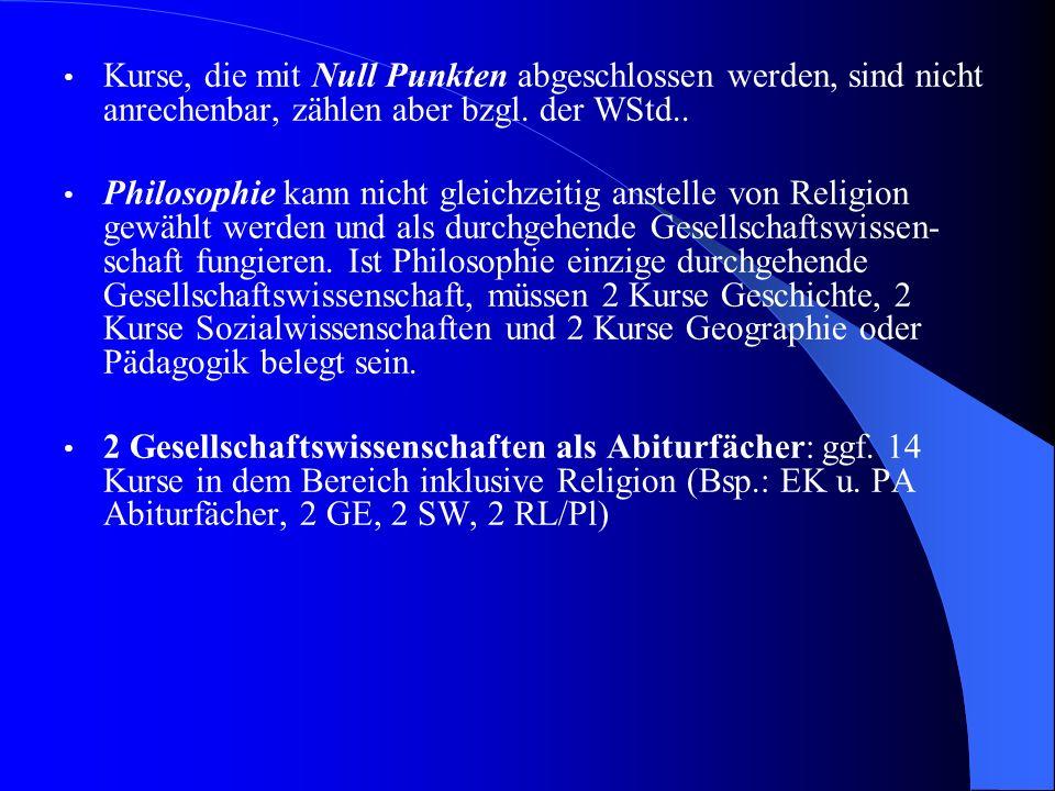 Belegung in QPh Durchschnittlich 8 GK´s und 2 LK´s aus den in der EPh belegten Fächern Pflicht: - Deutsch bis Ende Q2 - fortgeführte Fremdsprache aus Sek.