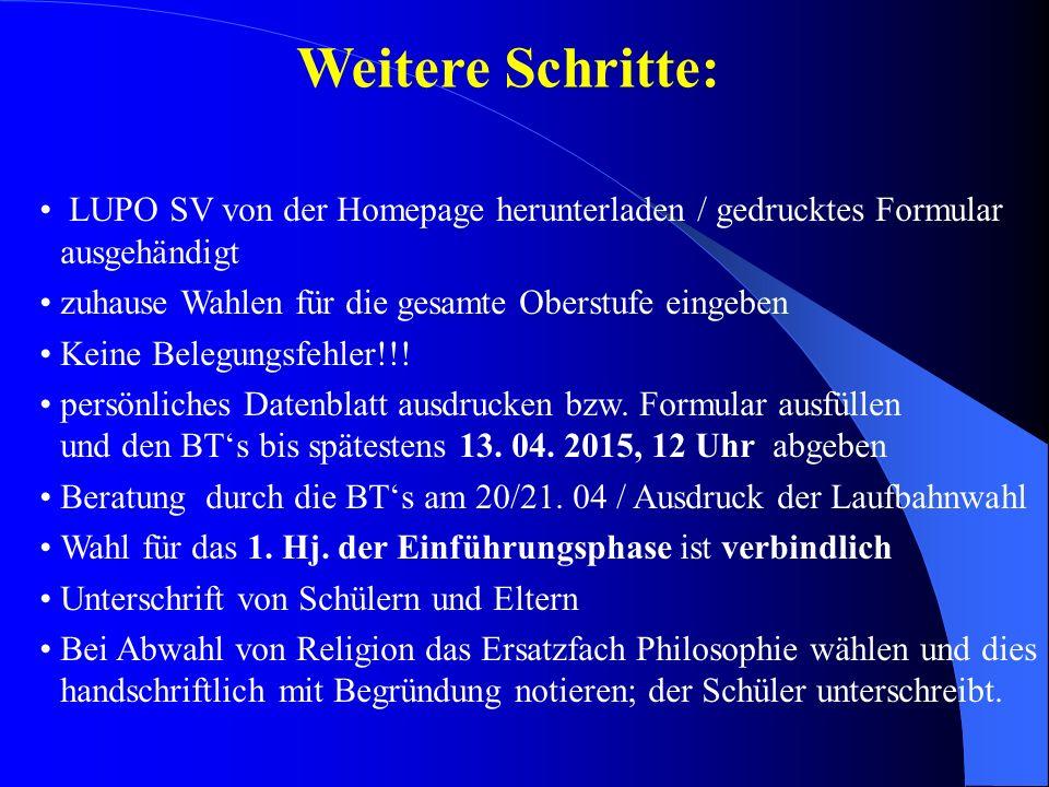 Weitere Informationen zum Abitur: www.standardsicherung.nrw.de