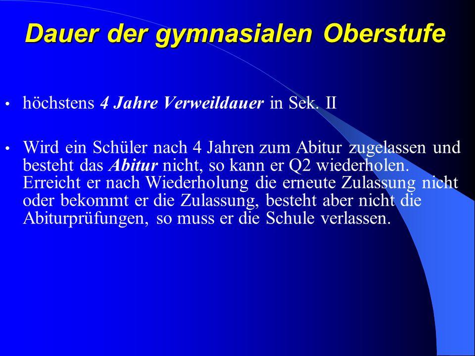 EF: 1 zentral gestellte Klausur in Deutsch und Mathematik (2.