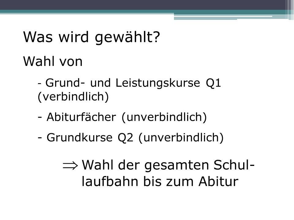 Abiturdurchschnittsnote: Die Pflichtkurse erscheinen auf dem Abiturzeugnis, auch wenn sie ggf.