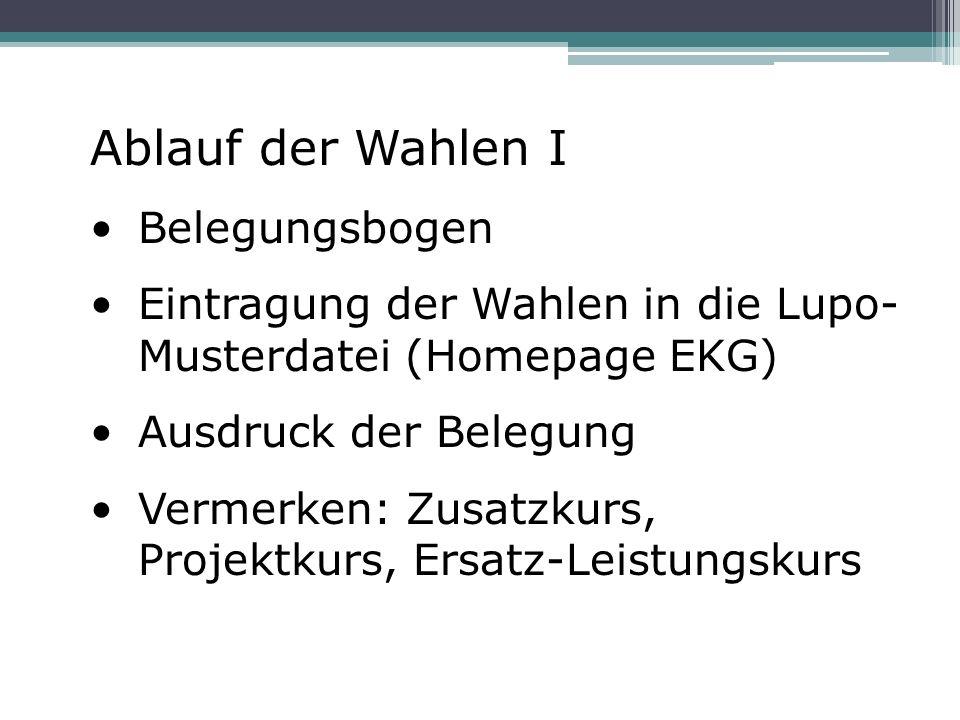 Abiturfächer und Leistungskurse: 3.und 4.