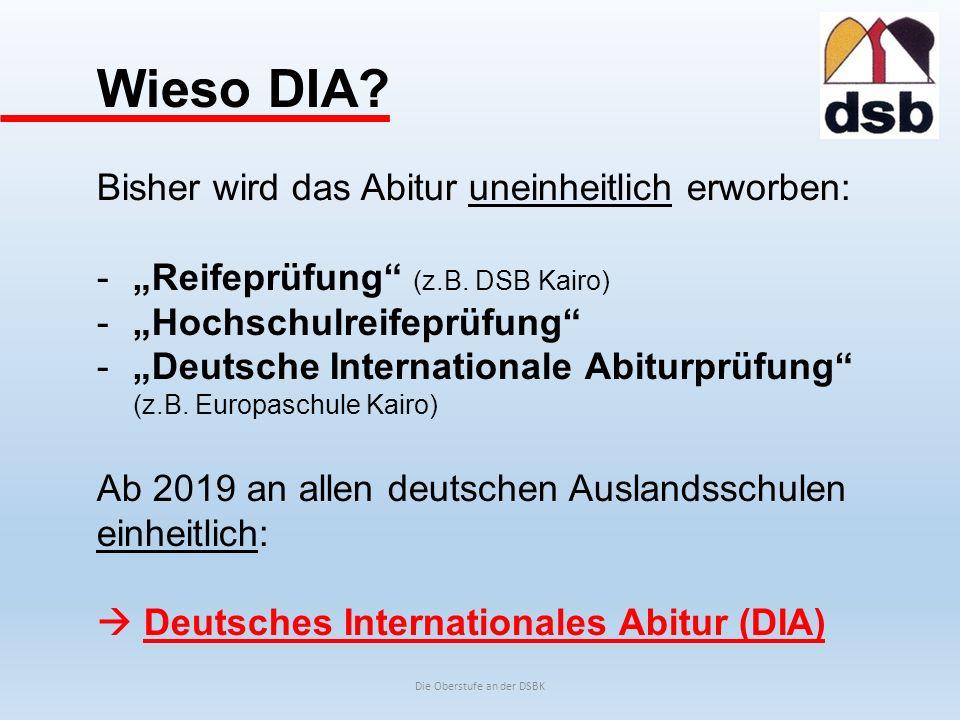 Die Oberstufe an der DSBK Grundlegende Begriffe -zwölfjähriger Bildungsgang -Grundschule (Kl.