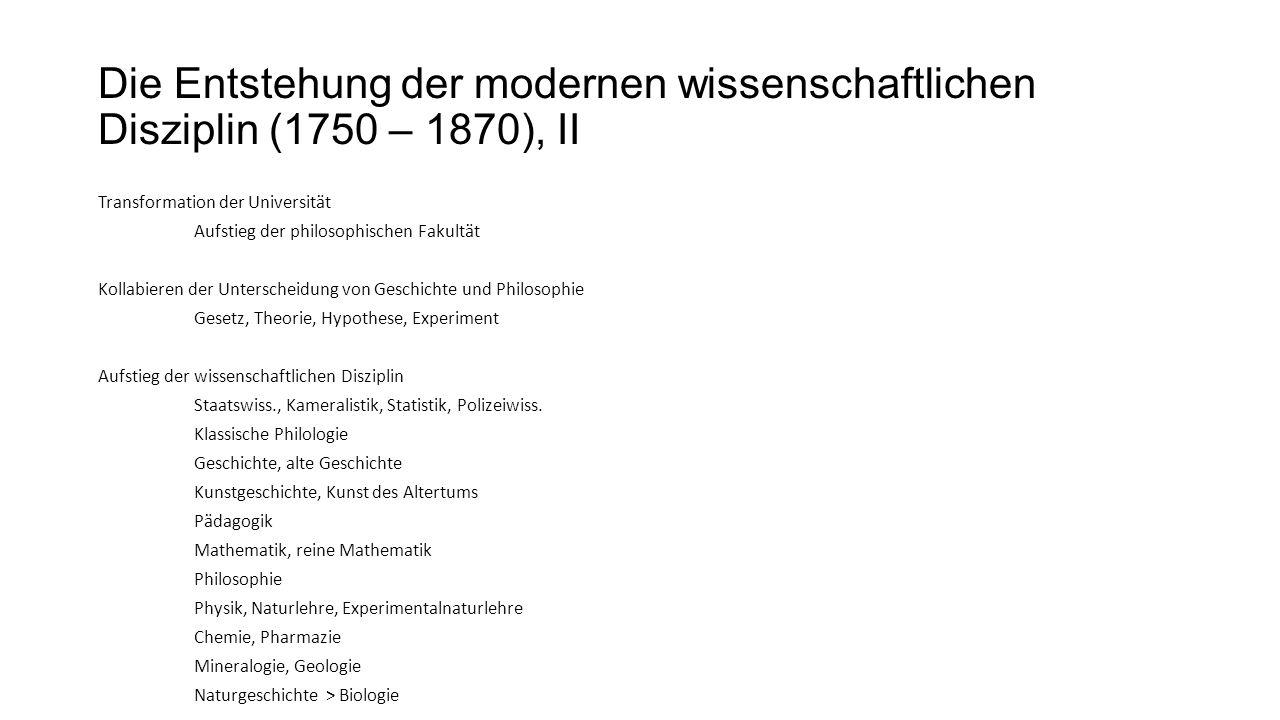 Gesellschaftliche Funktion der wissenschaftlichen Disziplin Garant der inneren Diversität des Wissenschaftssystems.