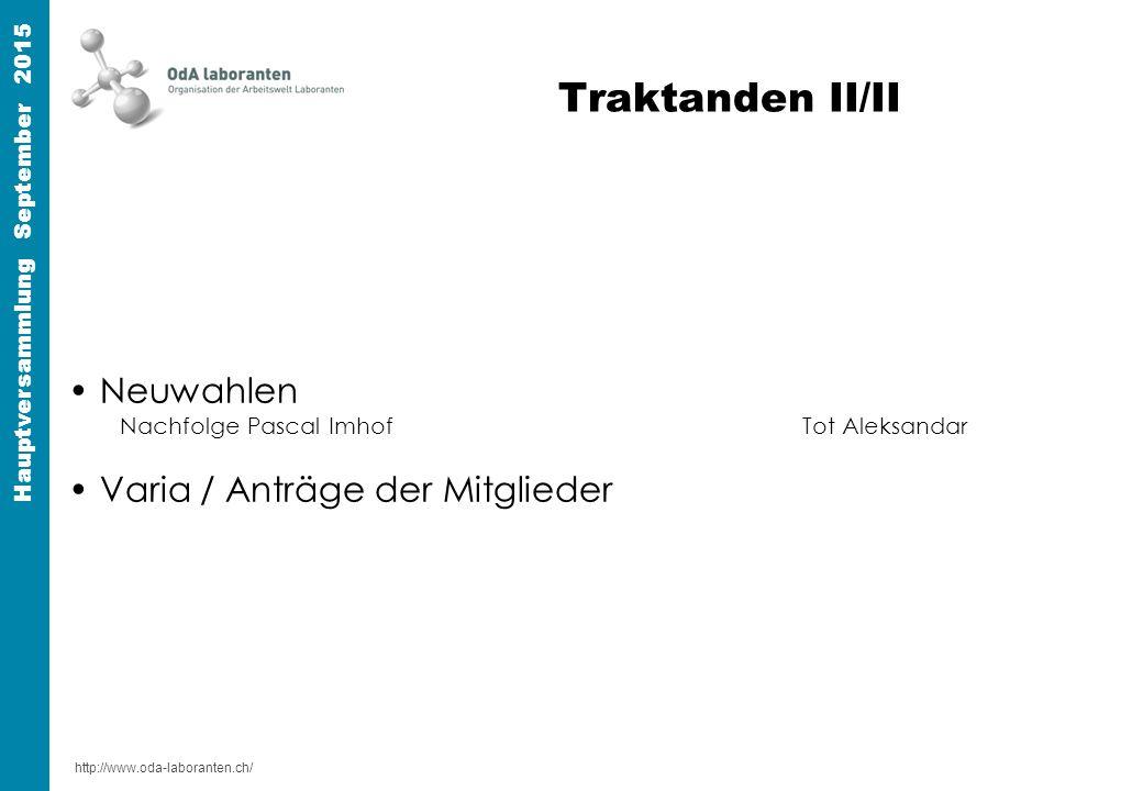 http://www.oda-laboranten.ch/ Hauptversammlung September 2015 Art.