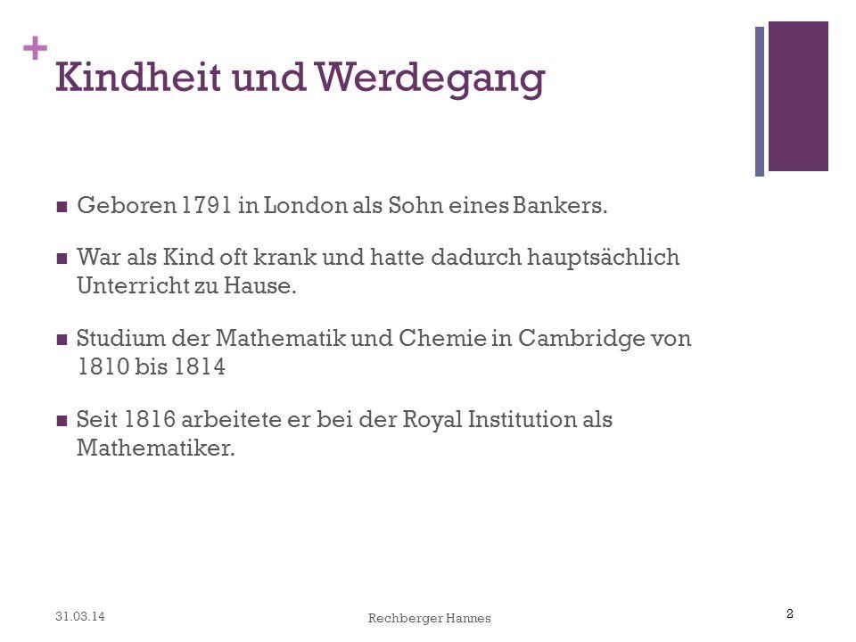 2 + Kindheit und Werdegang Geboren 1791 in London als Sohn eines Bankers.