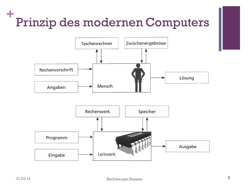 5 + Prinzip des modernen Computers 5 31.03.14 Rechberger Hannes