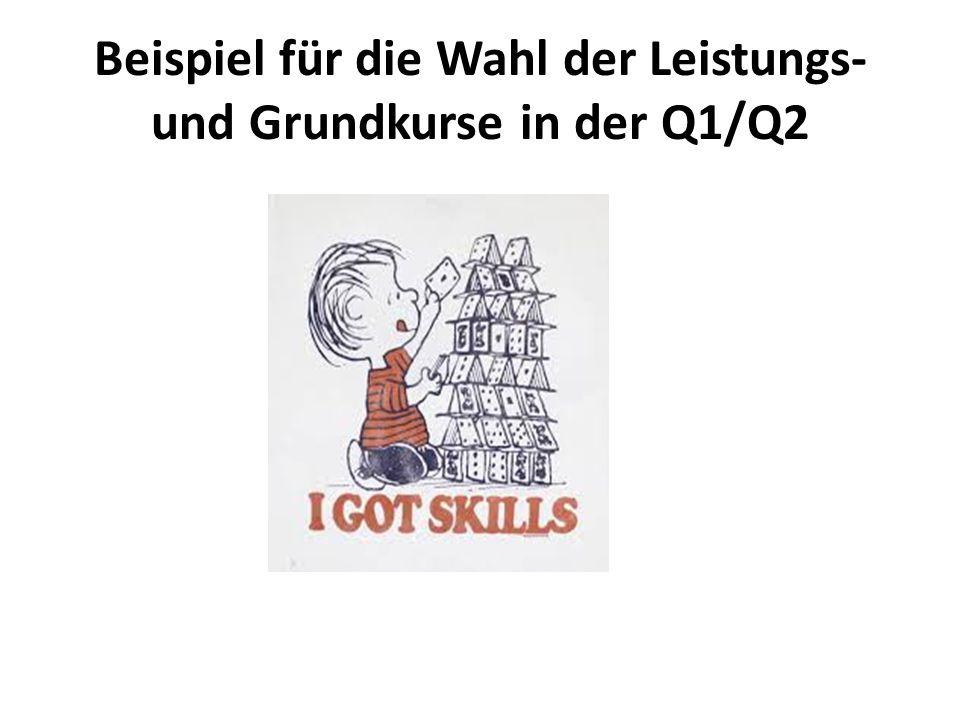 Beispiel für die Wahl der Leistungs- und Grundkurse in der Q1/Q2