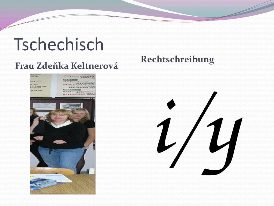 Tschechisch Frau Zdeňka Keltnerová Rechtschreibung