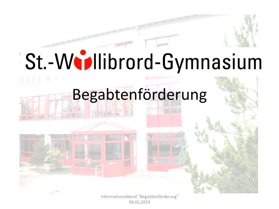 Begabtenförderung in Rheinland-Pfalz Eine gute Zusammenstellung über Wettbewerbe findet man unter dem Stichwort: Wettbewerbe machen Schule Rheinland-Pfalz http://gymnasium.bildung- rp.de/fileadmin/user_upload/gymnasium.bild ung- rp.de/downloads/Internetversion_2007.pdf http://gymnasium.bildung- rp.de/fileadmin/user_upload/gymnasium.bild ung- rp.de/downloads/Internetversion_2007.pdf Informationsabend Begabtenförderung 06.02.2014