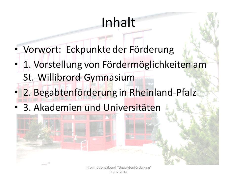 Bildung und Begabung http://www.bildung-und-begabung.de Übersichtliche und ausführliche Darstellung zu Möglichkeiten der Begabtenförderung.