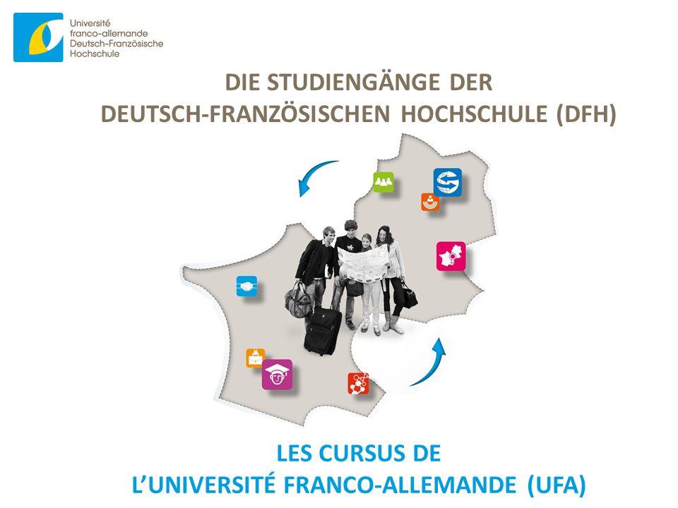 www.dfh-ufa.org DIE STUDIENGÄNGE DER DEUTSCH-FRANZÖSISCHEN HOCHSCHULE (DFH) LES CURSUS DE L'UNIVERSITÉ FRANCO-ALLEMANDE (UFA)