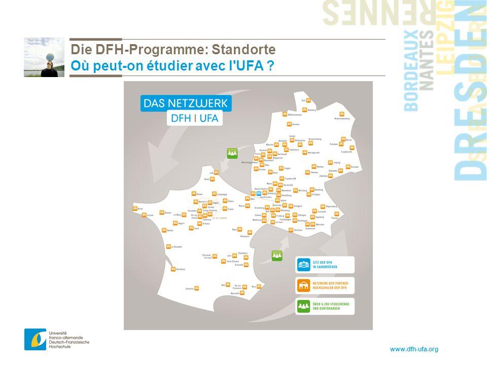 www.dfh-ufa.org Die DFH-Programme: Standorte Où peut-on étudier avec l UFA