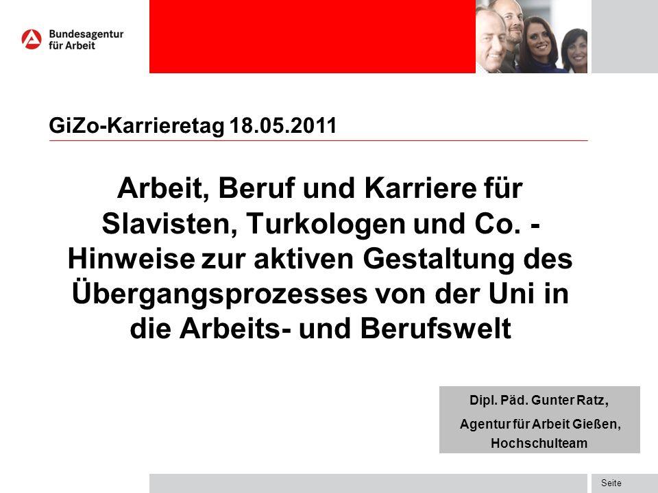Seite Arbeit, Beruf und Karriere für Slavisten, Turkologen und Co.