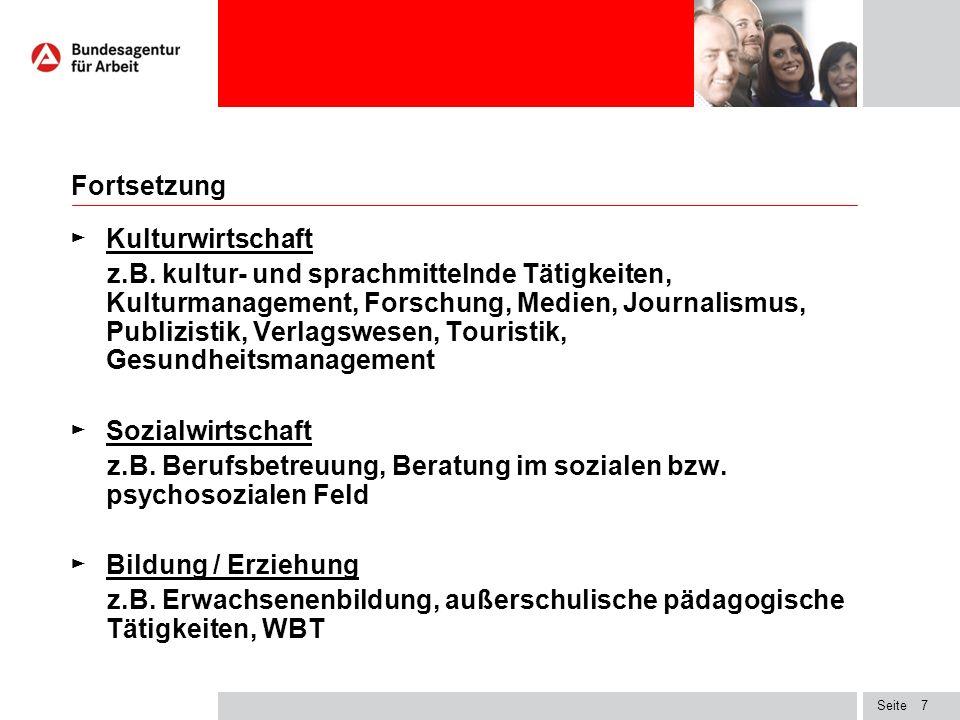 Seite7 Fortsetzung ► Kulturwirtschaft z.B.
