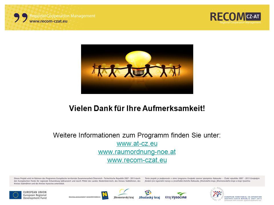 116 Vielen Dank für Ihre Aufmerksamkeit! Weitere Informationen zum Programm finden Sie unter: www.at-cz.eu www.raumordnung-noe.at www.recom-czat.eu ww