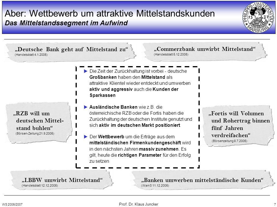 WS 2006/2007 Prof. Dr. Klaus Juncker 8 Verzehrquoten