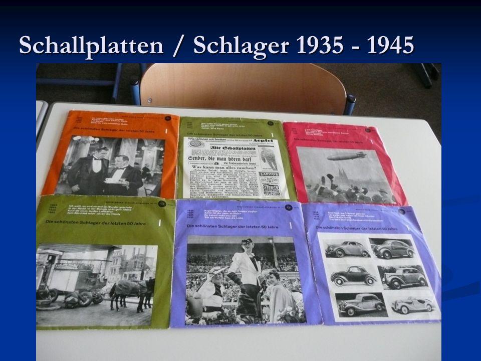 Schallplatten / Schlager 1935 - 1945