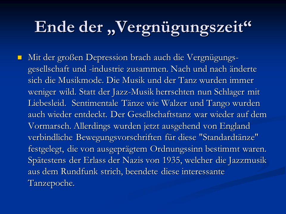 Zur Zeit des Dritten Reiches war der Swing, vor allem bei Jugendlichen, sehr beliebt.