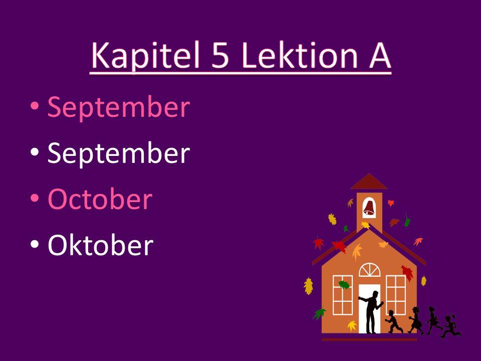September October Oktober