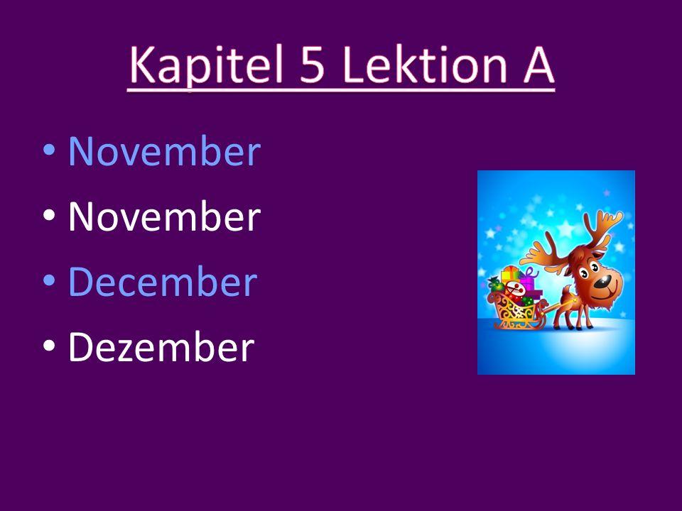 November December Dezember