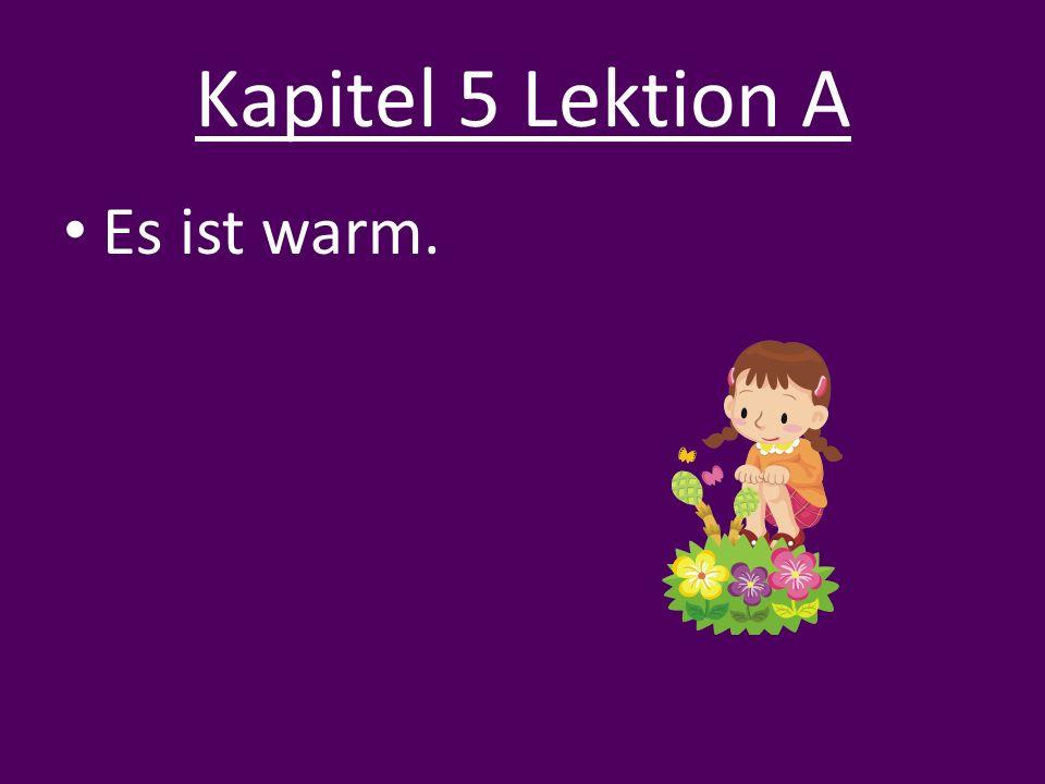Kapitel 5 Lektion A Es ist warm.
