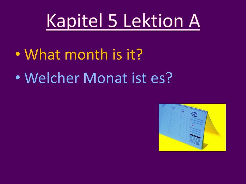 It is… Es ist… January Januar Jänner