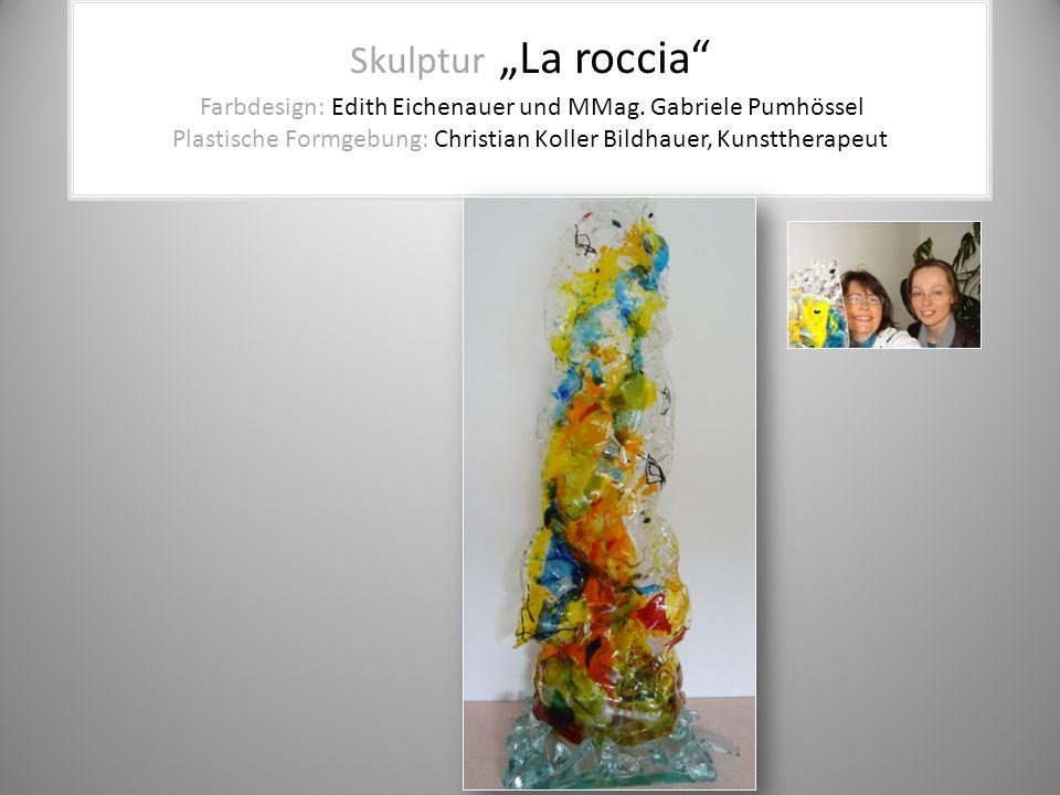 """Skulptur """"La roccia"""" Farbdesign: Edith Eichenauer und MMag. Gabriele Pumhössel Plastische Formgebung: Christian Koller Bildhauer, Kunsttherapeut"""