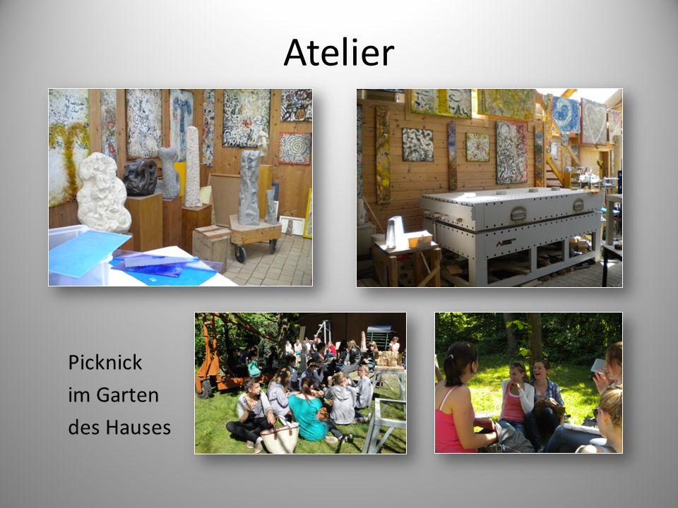 Atelier Picknick im Garten des Hauses