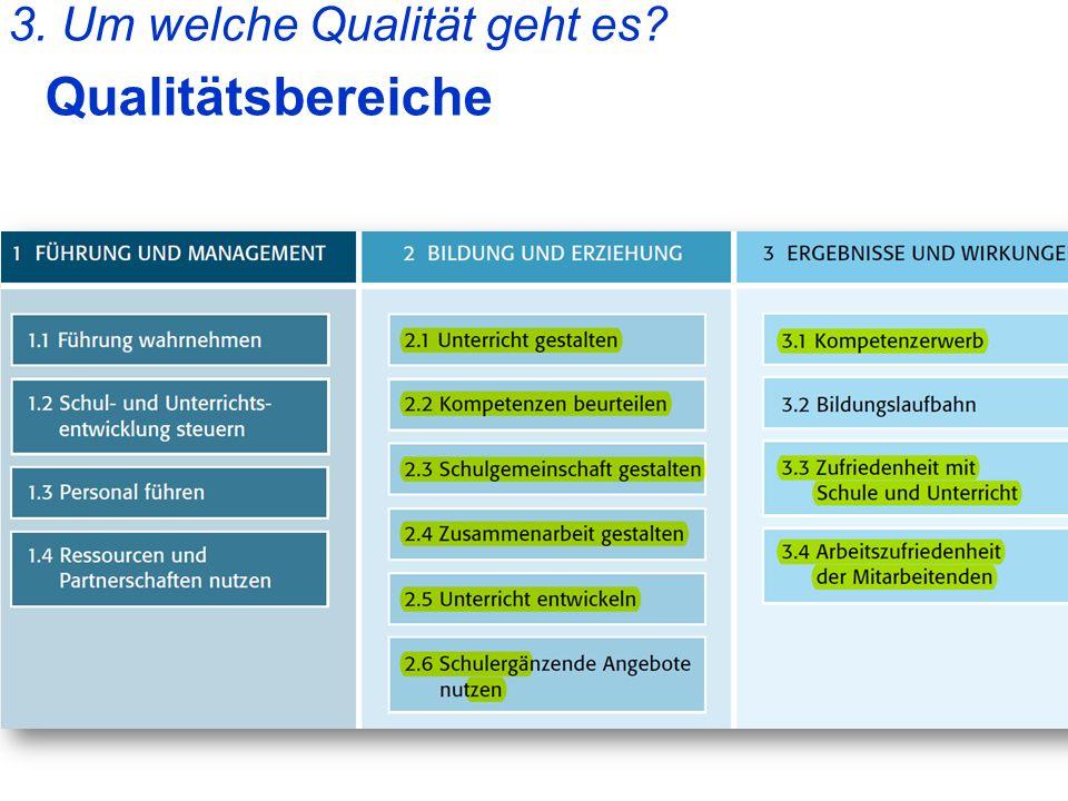 3. Um welche Qualität geht es? Qualitätsbereiche