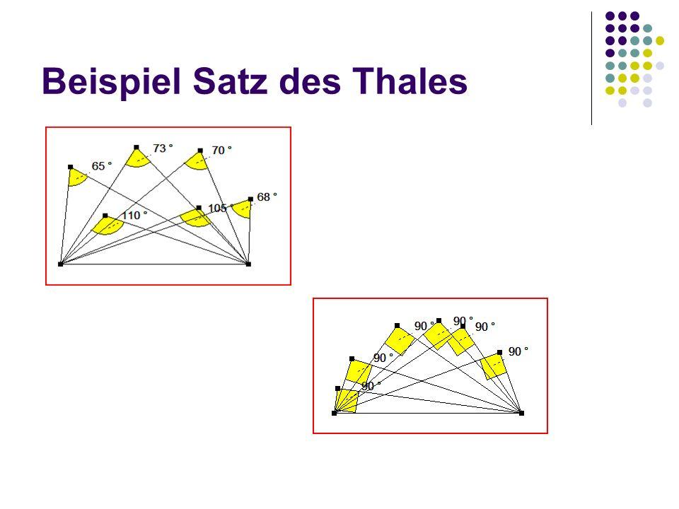 Beispiel Satz des Thales