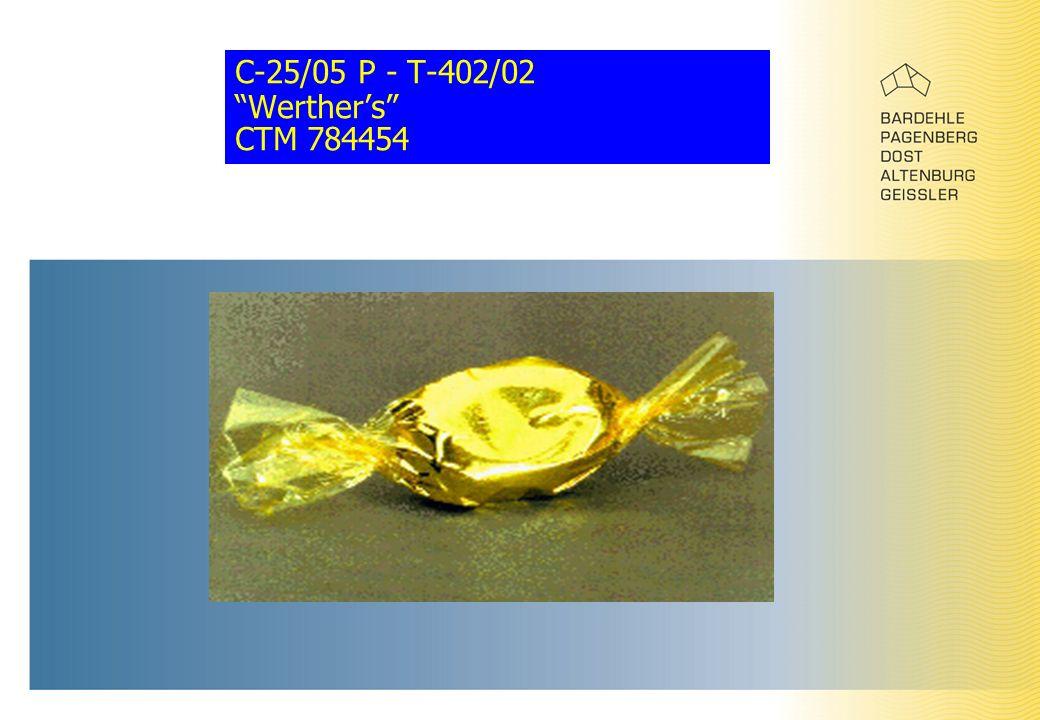 """C-25/05 P - T-402/02 """"Werther's"""" CTM 784454"""