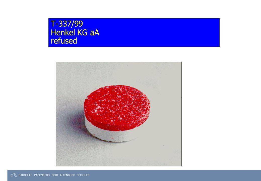 T-337/99 Henkel KG aA refused