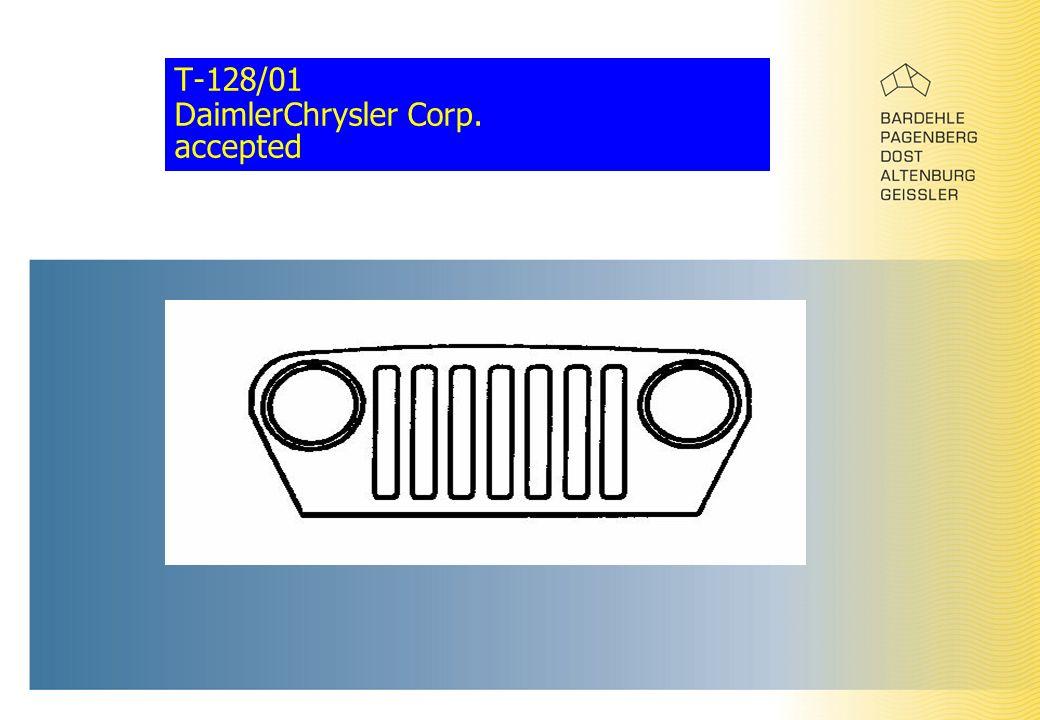 T-128/01 DaimlerChrysler Corp. accepted