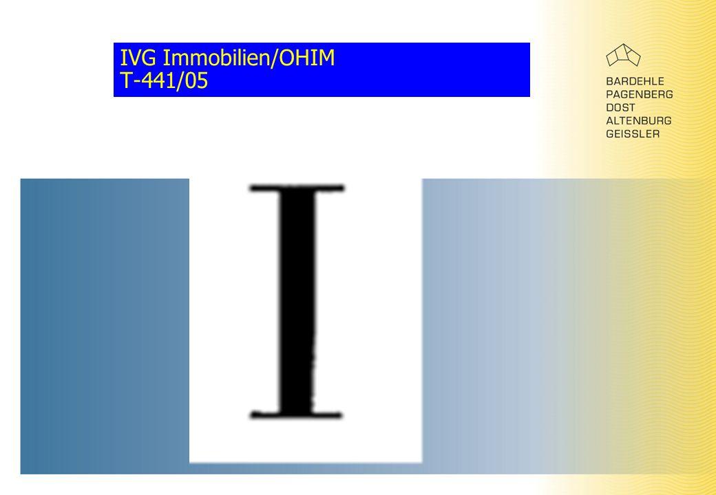 IVG Immobilien/OHIM T-441/05