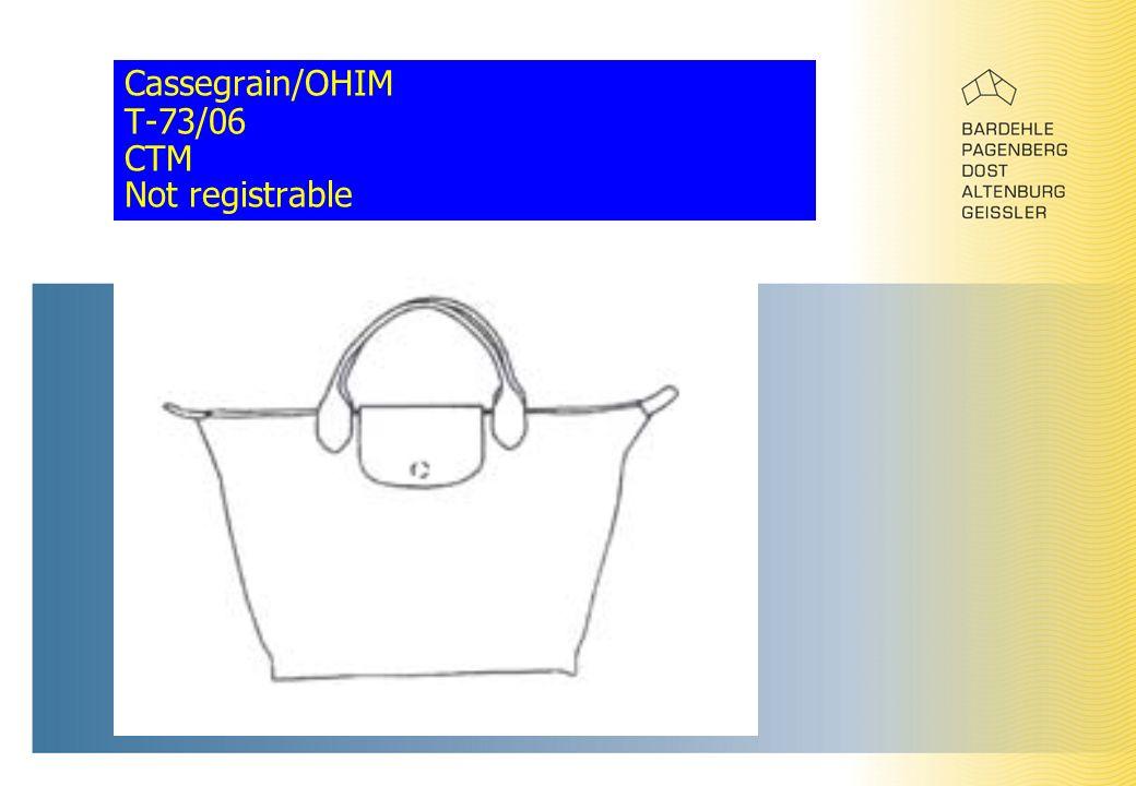 Cassegrain/OHIM T-73/06 CTM Not registrable
