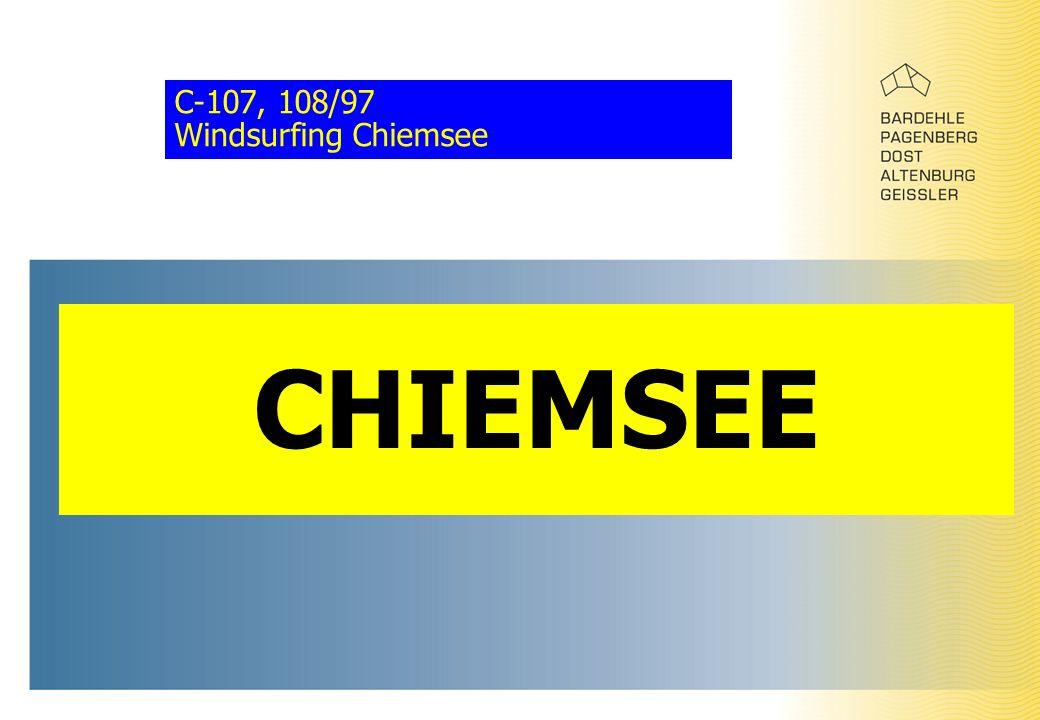 C-107, 108/97 Windsurfing Chiemsee CHIEMSEE