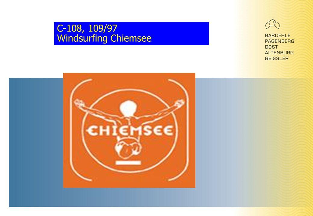 C-108, 109/97 Windsurfing Chiemsee