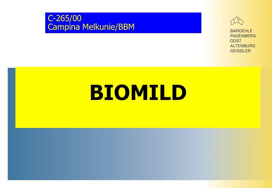 C-265/00 Campina Melkunie/BBM BIOMILD