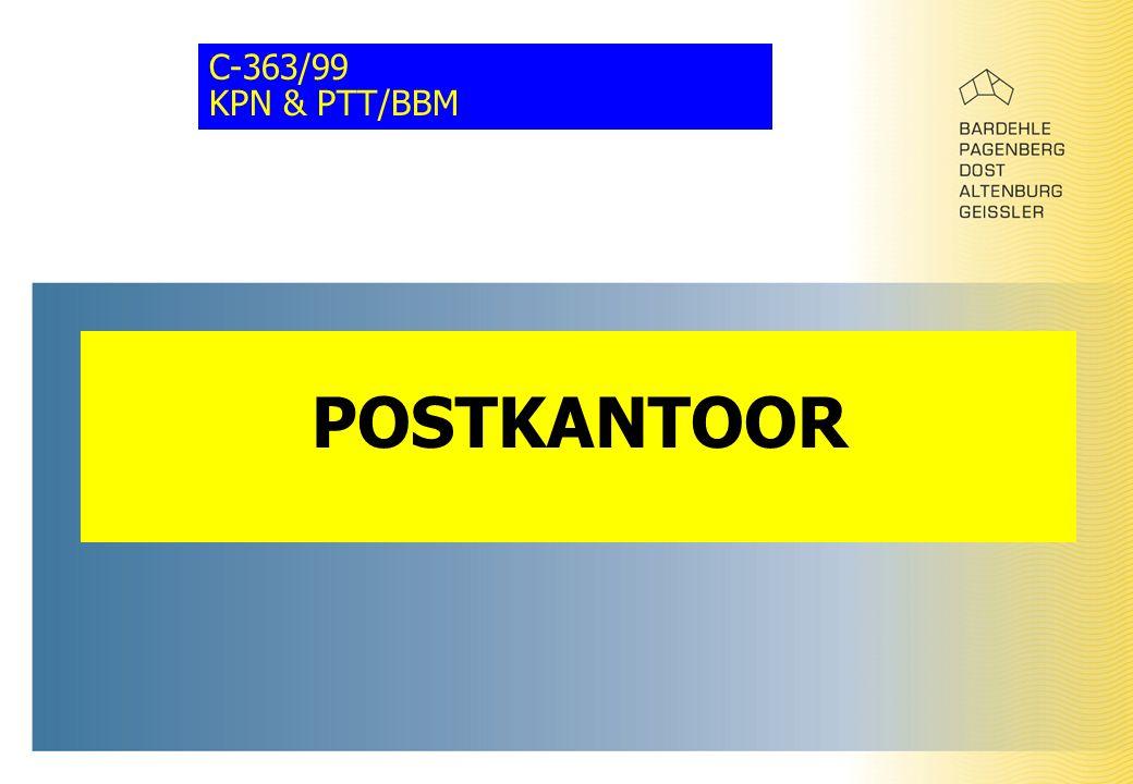 C-363/99 KPN & PTT/BBM POSTKANTOOR