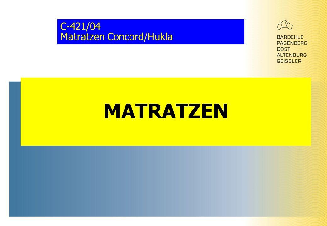 C-421/04 Matratzen Concord/Hukla MATRATZEN