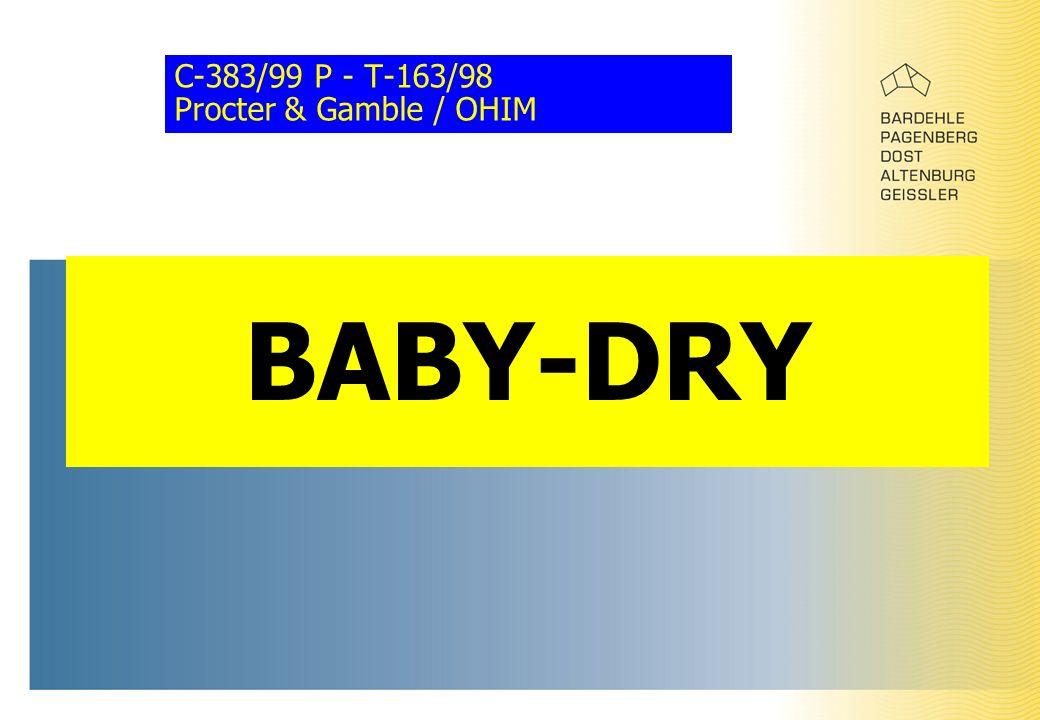 C-383/99 P - T-163/98 Procter & Gamble / OHIM BABY-DRY