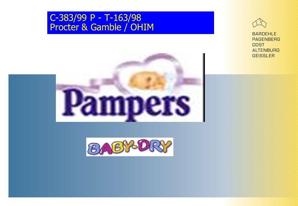 C-383/99 P - T-163/98 Procter & Gamble / OHIM
