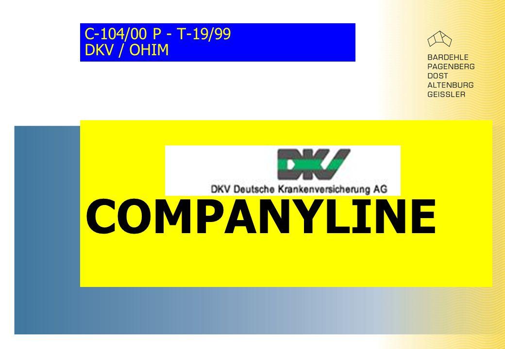 C-104/00 P - T-19/99 DKV / OHIM COMPANYLINE